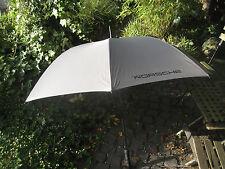 PORSCHE Golf-Regenschirm,Grau,Automatik,XL,2-Pers.NEU,Porsche Schriftzug,122cm