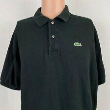 Lacoste Mens Classic Polo Shirt Black L. 12. 12 Short Sleeve Cotton Size 7 2XL