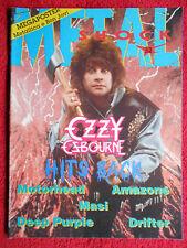 rivista METAL SHOCK 32/1988 Ozzy Osbourne Deep Purple Motorhead Drifter No cd