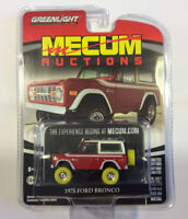 Greenlight 1:64 Mecum Auctions Series 1 1975 Ford Bronco GREEN MACHINE YELLOW