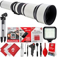 Opteka 650-1300mm f/8 Tele Zoom Lens for Canon Digital SLR Cameras + 15PC Bundle