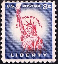 US - 1954 - 8 Cents Dark Violet Blue & Carmine with Color Shift # 1041 Mint F-VF