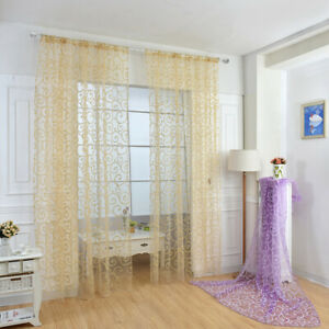 Voile Curtains Panel Lucy Slot Top Morocco Curtain Top Quality - Valance & Voile