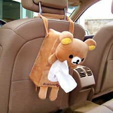 Car Accessory Deco Rilakkuma Bear San-X Cute Plush Tissue Paper Box Cover Holder