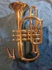 Antique Coronet Henry Distin #14021 Williamsport, PA Brass ? Instrument Vintage