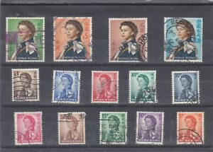 HONG KONG, 1962-66, LOT OF 14 DEFINITIVE STAMPS. ALL FINE USED FRESH CONDITION