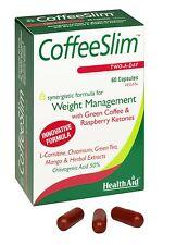 HealthAid Caffè-SLIM 60 capsule termogenico formula per il controllo del peso