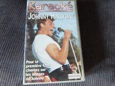 johnny hallyday en karaoké  cassette vhs
