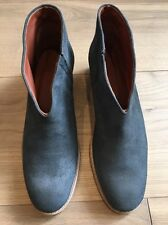 £319 Rachel Comey Ankle Boots Blue Suede Shoes US 8.5 8 1/5 UK 6 6.5 New NWOB