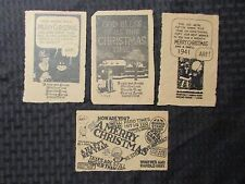 1940's MERRY CHRISTMAS From Annie Sandy & Harold Gray Greens Farms VG+ 4.5
