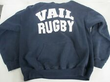 Vtg 80s/90s Vail Rugby Heavyweight Hooded Sweatshirt Rocky Mountain Rugby Sz M