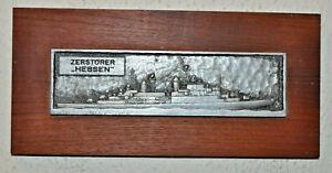 German Zerstorer Hessen plakette destroyer plaque shield crest Deutsche Marine