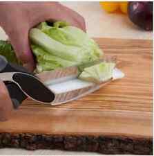 2 in 1 Kitchen Knife and Cutting Board Scissors Clever Cutter Kitchen Food Cutte