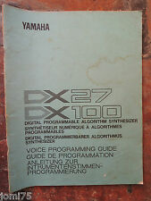 Original YAMAHA 80' DX100 DX 27 voice programming guide UK English DE FR