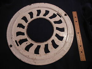ANTIQUE CAST IRON ORNATE ROUND VICTORIAN FLOORS STOVE PIPE REGISTER GRATE VENT 1