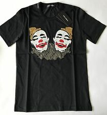 Brand New D&G Italy Dolce&Gabbana Mask Joker T-Shirt   Cotton  Men's Sz S