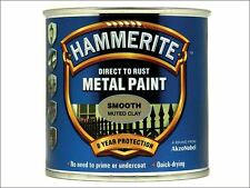 Hammerite - Direct to Rust Smooth Finish Metal Paint Muted Clay 250ml