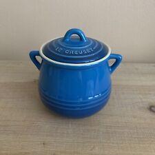 Le Creuset Mini Bean Pot & Lid, 16oz Cobalt Blue, 13-20