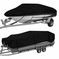 Heavy Duty Waterproof Boat Cover Pontoon / V-Hull Fishing Ski Bass 11ft-24ft