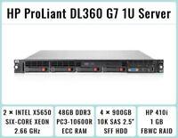 HP ProLiant DL360 G7 1U Server 2×Xeon Six-Core 2.66GHz + 48GB RAM + 4×900GB SAS