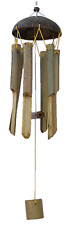BAMBOO WIND CHIME COCONUT TOP HANDMADE OUTDOOR HANGING DECORATION LARGE CHIMES
