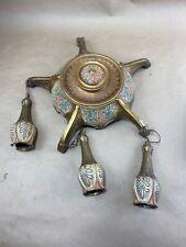 Antique Empire Chandelier Gold Bronze Brass Hanging 5 Arm Pan Lamp Weber Sockets