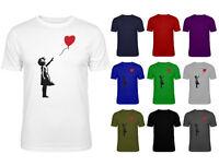 Mens Girl With Heart Balloon Banksy Graffiti Art T-shirt NEW S-XXL