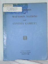 Mattison Nations & Cynthia Garrett Genealogy Books Loye Nations 1969 NJ VA NC SC