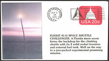 USA 20c FDC FIRST DAY COVER FLIGHT 41-G SPACE SHUTTLE CHALLENGER - 1984