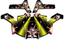 Polaris RZR 800 UTV Graphics Decal Kit Wrap 2011 - 2014 Pyro The Clown Yellow