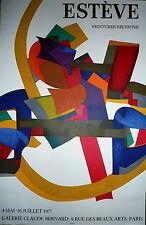 Esteve Maurice Affiche en Lithographie Mourlot Estève art abstrait abstraction