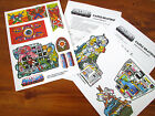 MOTU Masters of the Universe replacement stickers / decals for CASTLE GRAYSKULL