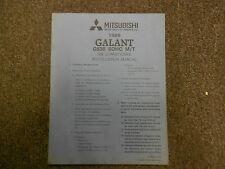 1989 MITSUBISHI Galant Air Conditioner Instalation Service Shop Manual OEM 89