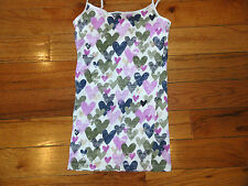 NWOT AEROPOSTALE WOMENS JUNIORS HEART CAMI OLIVE LILAC BLUE XS >>MUST SEE<<