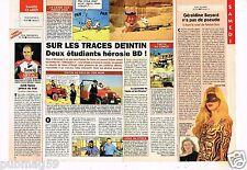 Coupure de Presse Clipping 1994 Sur les traces de Tintin