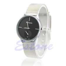 Fashion Classic Women's Quartz Analog Stainless Steel Silver Vogue Wrist Watch