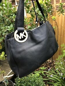 Michael Kors Black Leather Hand Bag