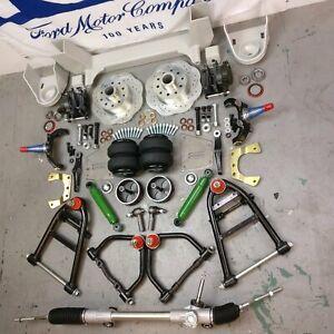 """48-52 Ford F1 Pickup Mustang II IFS Kit 2500lbs AirBag 2"""" Drop 5x4.5 Manual Rack"""