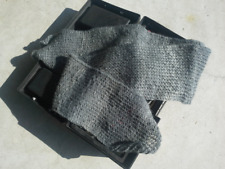 Mens Wool Scarf Face Mask Rib Neck Warmer Hand Knitted Variable Gray Tones USA