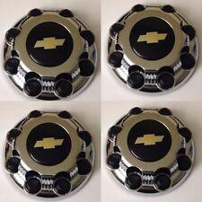4pcs New Black CHROME 8 Lug Center Caps -> Chevy Express Van 2500 3500 9597163