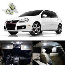 14 x Pure White LED Interior Light Package For Volkswagen Golf GTi 2006 - 2009