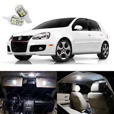 14 x Xenon White LED Interior Light Package For Volkswagen Golf GTi 2006 - 2009