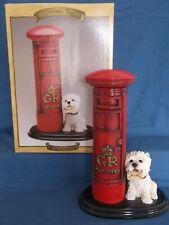 "More details for leonardo very large 11"" west highland terrier dog post pillar box figurine boxed"