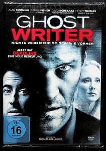 'Ghost Writer' German DVD Carrie Fisher Alan Cumming David Boreanaz new, sealed