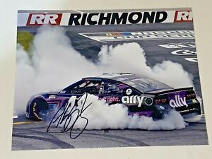 Alex Bowman 2021 RICHMOND VICTORY BURNOUT ALLY #48 CUP autographed 8x10 photo