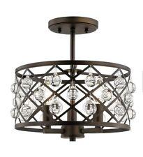 Home Decorators Collection Pennington Crest 3-Light Aged Bronze Semi Flush Mount
