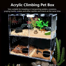 4 Grids Pet Reptile Cage Feeding & Breeding Tank For Insect Lizard Amphibian Us