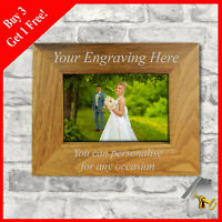 Personalised Engraved Wooden Photo Frame For Birthdays Anniversary Mum Nan Gifts
