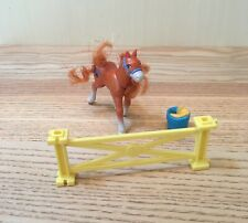 Vintage Littlest Pet Shop 1994 Horse Figure With Jumping Fence Kenner