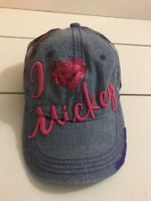 "Disney Parks Girl ""I love Mickey"" baseball cap Purple/Blue/Pink One size"